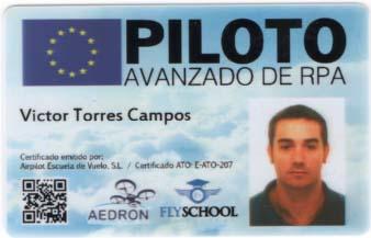 licencia piloto drones